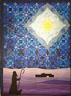 Shepherd and star in a Storm at Sea quilt at Carmichael Presbyterian Church (California).