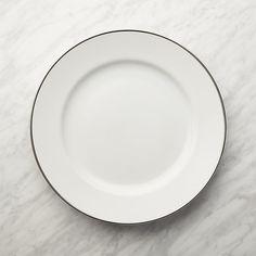 Maison Platinum Rim Dinner Plate - quantity 12 plates