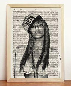 Beyonce Nets Black White Portrait American Music Singer by cholulo