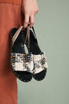 KMB Leather Slingback Sandals