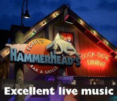 Excellent live music at Poppy's Hammerheads Bar & Grille in Destin, Florida- They also host karaoke 🎤! Destin Florida Restaurants, Destin Florida Vacation, Mexico Vacation, Destin Beach, Florida Travel, Florida Beaches, Beach Trip, Florida Keys, Family Vacation Destinations