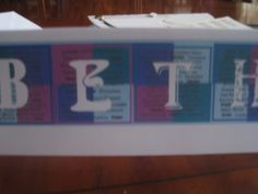 Personalised card - each letter of the name spells out some pleasing characteristics of the recipient