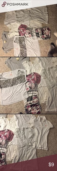 Last chance top bundle Taking to goodwill soon so if you want please make an offer! American Eagle Outfitters Tops Tees - Short Sleeve