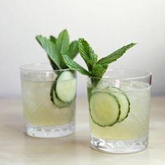 Cucumber-Mint Gin Cocktail on @POPSUGAR Food