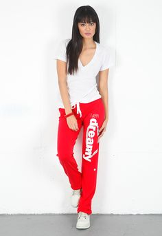Peace Love World Dreamy Pant in Red featured on Singer22.com