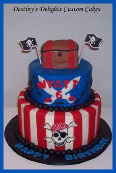 Pirate Cake - www.destinysdelightscakes.com