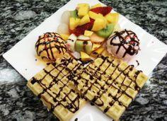 #Waffle & Ice Cream #雪糕格仔餅