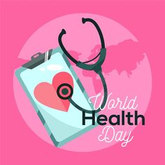 Drawing of world health day concept Free. World Health Day, Hand Drawn, Vector Free, Concept, Digital, Drawings, Prints, Design, Draw