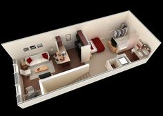small studio apartment floor plans. would be a great layout for my ...