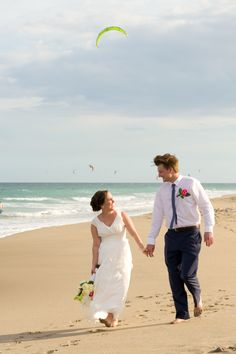 Brittani and Brad's Jupiter Beach wedding. A beautiful day for this beautiful couple. Wishing you wo all of the best.  Photo by https://www.facebook.com/stephaniedentonphotography in Jupiter, FL