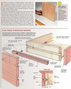 DIY Wooden Drawer Slides - Drawer Construction