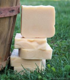 Why Use Lye In Soap? - Information on other options for those intimidated by handling caustic lye.  Note there is no replacement for lye in traditional soapmaking. Photo courtesy Jan Berry (HobbyFarms.com)