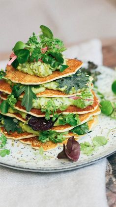 Savoury Pancakes with Avocado Crema