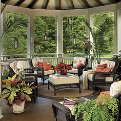 75 Breezy Porches and Patios.Patios and porches are an integral part of Southern culture. These classics are inviting and inspiring. Porch and Patio Design Inspiration - Southern Living Outdoor Rooms, Outdoor Living, Outdoor Furniture Sets, Outdoor Decor, Wicker Furniture, Black Furniture, Indoor Outdoor, Southern Living Rooms, Gazebos