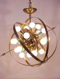 C 1950's Mid Century Sputnik Atomic Space Age Chandelier 20 Arm Light Lamp | eBay