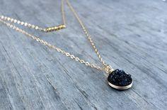 Super Cute Tiny Druzy necklace