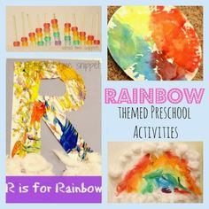 School Time Snippets: Rainbow Themed Preschool Activities. Pinned by SOS Inc. Resources. Follow all our boards at pinterest.com/sostherapy/ for therapy resources.
