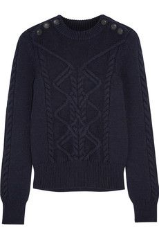 Isabel Marant Dustin cable-knit wool-blend sweater   NET-A-PORTER