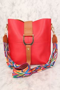 016e76d14d2e11 Buy Sexy Red Tribal Strap 2 Pc. Bucket Handbag with cheap price and high  quality
