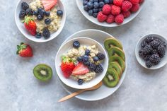 Healthy Breakfast 101 Creamy Light Oatmeal with Fruit and Berries - oven HUG