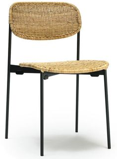 Armless Chair, Side Chairs, Rattan, Indoor, Dining, Natural, Wood, Table, Furniture