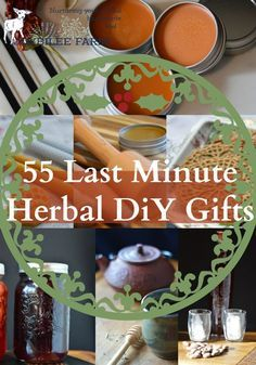 Herbal DIY gifts go a little deeper because they offer the gift of health and wellbeing plus good taste, affecting the whole body, mind, and emotions.  If you are looking for a few last minute gifts let me save you the icy streets, the traffic jams, the waiting for a parking spot, the pushing through crowds of shoppers, the waiting in lineups to pay, or waiting for the parcel to arrive.  Instead, open your herb cupboard and make these homemade herbal gifts this afternoon.  You can thank me…