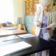 Local historian Barbara Burbridge beginning to put together our Waterloo and Agincourt exhibition