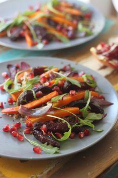 Smakowity Blog Kulinarny: Sałatka z pieczonych warzyw i komosy ryżowej