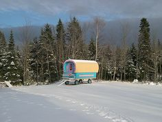 "Quebec Gypsy wagon ""Okanalupine"" First snow."