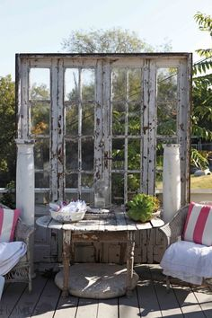 E And T Builders Kinsale Love the old doors....interesting idea!   For the Home   Pinterest ...