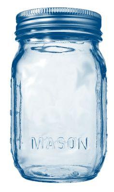 Colored Mason Ball Jar Clip Art - lots of colors