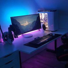 15 best gaming desk setup ideas images gamer room pc setup computers rh pinterest com