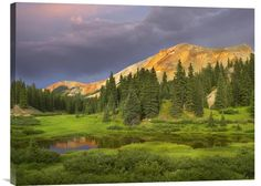 buy Feng Shui wall art photo Red Mountain and Pond, Near Ouray, Colorado at www.explosionluck.com