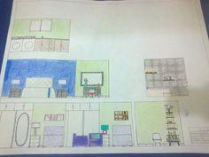 Diseño de interiores, elevaciones de espacios, casa