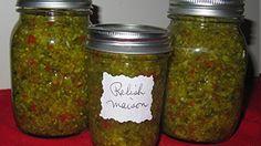 Relish maison | Noovo Ketchup, Chutney, V Max, Marinade Sauce, Salsa, Mason Jars, Food And Drink, Conservation, Sauces
