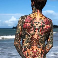 Epic back piece by Adrian Lee - Tattoo Models Black Ink Tattoos, Back Tattoos, Hot Tattoos, Body Art Tattoos, Tattoo Art, Tatoos, Backpiece Tattoo, Chest Tattoo, Incredible Tattoos