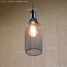 28.45$  Watch more here - http://aijxf.worlditems.win/all/product.php?id=32690780870 - Retro loft Style Vintage Lamp Industrial Lighting Fixtures In Bottle Net Edison Pendant Light Shape Hanglamp Lamparas