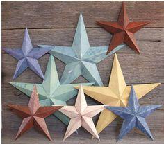 love tin barn stars