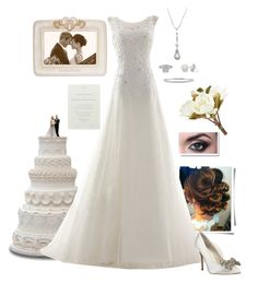 Wedding by gone-girl on Polyvore featuring polyvore fashion style Menbur BERRICLE Allurez Pier 1 Imports clothing