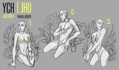 [OPEN] 4 YCH (house plants) adopt auction   JHU by JHUffizi
