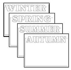 Printable seasons of the year border sheets
