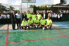 Autoridades del #Cobaem_Morelos y del #P01Cuernavaca inauguraron el torneo #BachoChampions2014