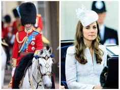 Prince William, Duke of Cambridge and Catherine, Duchess of Cambridge, Trooping The Colour 2014