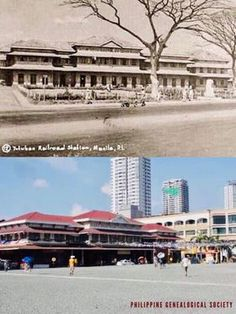 Dito, Noon: Tutuban Center, along Mayhaligue Street, Tondo, Manila 1892 x 1990s. #kasaysayan The original Tutuban Station (cornerstone was laid on 31 July 1887) was developed into a shopping mall in the 1990s.  The new Tutuban Center Mall was unveiled in 1994. Present Day, Manila, Shopping Mall, 1990s, Vintage Photos, Philippines, The Originals, Street, Shopping Center