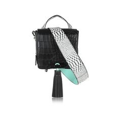 Kenzo Handbags Black Embossed Croco Leather Sailor Bag (3.605 RON) found on Polyvore featuring women's fashion, bags, handbags, shoulder bags, black, leather shoulder handbags, leather crossbody, handbags shoulder bags, crossbody handbags and shoulder handbags
