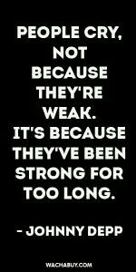 In what should be my strongest time..I'm actually at the weakest..but I've been that way for over a year..a malignant tumor is just another bump in the road to deal with.
