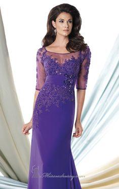 Lace Georgette Chiffon Gown by Mon Cheri Montage
