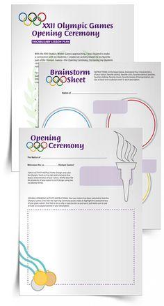 Vocabulary Activity: Olympic Games Opening Ceremony  RI.4.4  RL.4.4