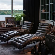 leather lounge chairs