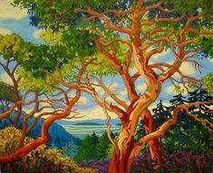 Landscape Artwork, Landscape Illustration, Forest Painting, Mini Canvas Art, Puzzle Art, Canadian Art, Amazing Art, Fine Art, Wall Decor